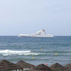 "The ""A"" exclusive yatch at Nikki Beach, Marbella"