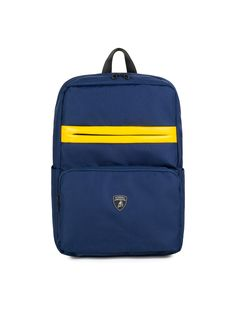 The Automobili-Lamborghini backpack is a practical and functional accessory made from a hi-tech material. It has been elevated with a zip pull that references the iconic hexagonal detail on the super-sports cars made by the legendary manufacturer at Sant'Agata Bolognese.