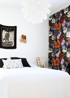 hunajaista bedroom makuuhuone oodi marimekko verhot saana ja olli