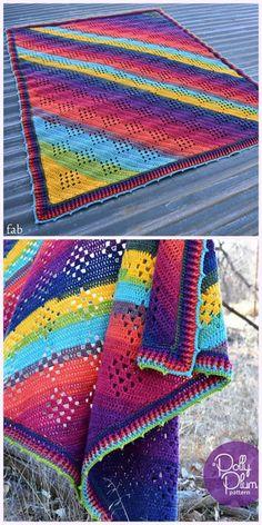 Crochet Granny in the Sky with Diamonds Blanket Pattern