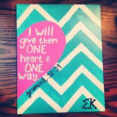 Love this!!! :) #sigmakappa #dovelove #oneheart #oneway #painting #inspire #jeremiah32:39