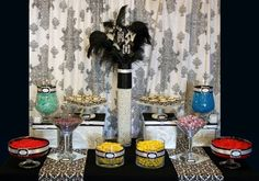 Black and White Damask Candy Buffet Wedding Favors Photos on WeddingWire