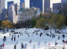 Wollman Rink Ice Skaters, Central Park - http://andrewprokos.com