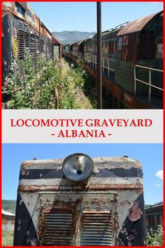 Visiting abandoned places: CDK Locomotive Graveyard in Prrenjas, Albania. One of the best of-be-beaten-path destination in Albania. The trains are left to decay. Europe Travel Tips, Us Travel, Travel Guides, Family Travel, Travel Destinations, Budget Travel, Train Travel, Travel Plan, Travel Articles