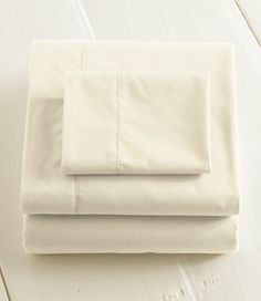 Consumer Reports' pick for best sheets -- 280-Thread-Count Pima Cotton Percale Sheet, Fitted: Fitted Sheets | Free Shipping at L.L.Bean