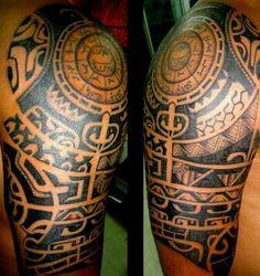 Aztec half sleeve tattoo