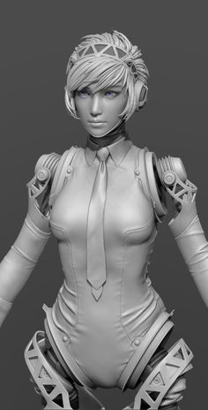 What Are You Working On? - Page 82 - Polycount Forum Female Character Design, 3d Character, Character Design References, Zbrush Character, Character Modeling, 3ds Max Models, Role Models, Wireframe, Cyberpunk