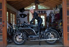 touch the bike *again* & you will be the one getting the business end of the whip - 1964 BMW Ural Motorcycle, Cafe Racer Motorcycle, Motorcycle Clubs, Motorcycle Babe, Motorcycle Fashion, Lady Biker, Biker Girl, Bmw Scooter, R1200r