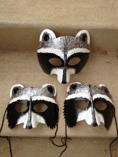 raccoon mask raccoon costume by HighMoonCreations on Etsy, $17.00