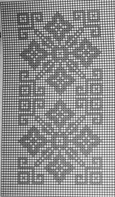 Photo from album Filet Crochet Charts, Crochet Diagram, Knitting Charts, Crochet Motif, Crochet Designs, Crochet Doilies, Beaded Cross Stitch, Crochet Cross, Cross Stitch Flowers