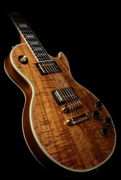 Gibson Custom Shop Koa Les Paul Custom Electric Guitar  $4,999.00 sale price! this one retails at over 7 grand!!