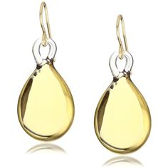 Yummi Glass 24k Gold-Painted Murano Glass Yellow-Color Pear Drop... ($175) ❤ liked on Polyvore
