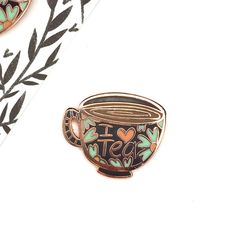 I Heart Tea Enamel Pin