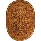 Antiquity Assorted/Gold 4 ft. 6 in. x 6 ft. 6 in. Oval Area Rug, Red/Gold