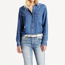 Levi's 70S Western Nevermind - Camicia in jeans - blu jeans