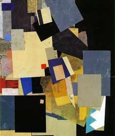 Kurt Schwitters (German, 1887-1948), Pelikan, 1925. Collage, 43.5 x 36.2 cm. Museum of Modern Art, New York.