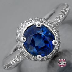 Sapphire Estate Engagement Ring