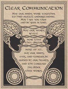 Moge onze geesten samenwerken om wederzijds begrip te vinden. Moge ik je ware aard zien en voor mijn ware aard aanzien worden. Moge onze woorden zich onthullen, meer dan dat ze zich verdoezelen. En bovenal, mogen onze …