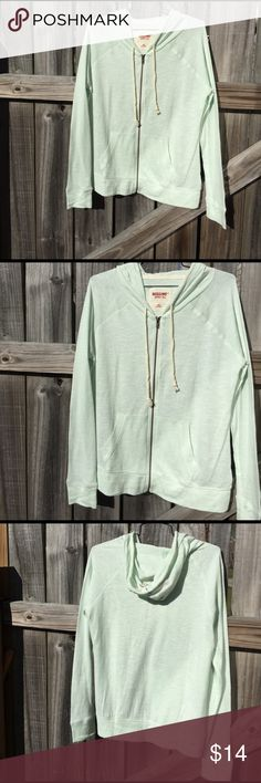 Lightweight Hoodie Mossimo hoodie light enough for spring chill. Color is moonlight jade. New with tags. Mossimo Supply Co. Tops Sweatshirts & Hoodies