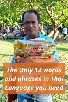 Just 12 words and phrases in Thai language you need in Bangkok #bangkokbits #bangkok #thailand