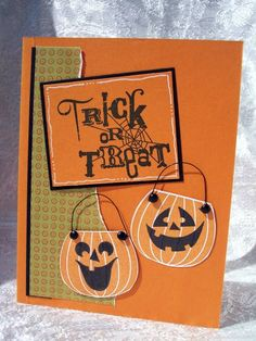 "Candlelit ""Trick or Treat"" Card...by cvansluys-Cards and Paper Crafts at Splitcoaststampers."