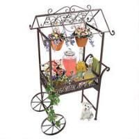 Basil Street Gallery Outdoor Serving Cart Jardin a la Francaise Flower Pushcart Wheelbarrow Planter, Wheelbarrow Storage, Reproduction Furniture, Flower Cart, Animal Statues, Patio Bar, Whimsical Fashion, France, Garden Statues