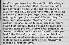 heartbreak quotes tumblr | we all experience heartbreak but you will one day fall in love ...