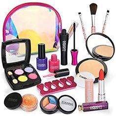 Little Girl Makeup Kit, Makeup Kit For Kids, Kids Makeup, Kids Nail Polish, Water Based Nail Polish, Diy Nail Decorations, Makeup Toys, Cosmetic Kit, Toys For Girls