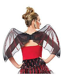 Skeleton Fairy Wings - No x-ray vision needed for these Skeleton Fairy Wings! These wide fairy wings will fear all of your enemies with the red skeleton details that s Halloween Accessories, Costume Accessories, Fairy Wings, Costumes, Costume Ideas, Wands, Makeup Looks, That Look, Two Piece Skirt Set
