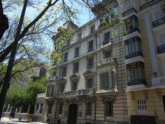 Palacetes de Madrid: CASA PALACIO DE DON PABLO DEL PUERTO- Paseo de  la Castellana, 19.  Miguel de Olabarría Zuaxuabar y Benito González del Valle y Fernández Galán, 1903 -1905.   Actualmente en desuso