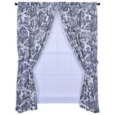 I pinned this Victoria Park Toile Curtain - Set of 2 from the Design Report event at Joss & Main! Ilove BlueToile it says these a Black and white so pretty( no place toput thembut pretty).