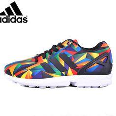 f0f35648063 Men's/Women's adidas Originals ZX Flux Shoes White/Collegiate Navy/Red  S81651,
