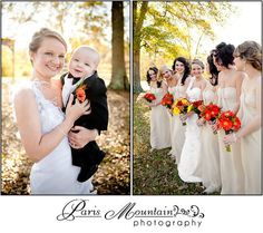 Bridesmaids Paris Mountain Photography  Cream bridesmaids dresses.  Stone Creek Inn