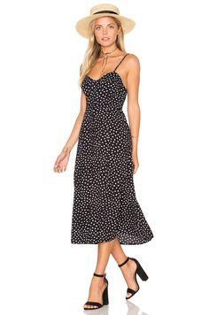 Motel Kate Dress in Black Ditsy Polka   REVOLVE