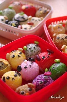 Mameshiba Dogs Onigiri Rice Balls Kyaraben Bento by akinoichigo