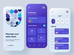 Task Manager Mobile App Design by Ghulam Rasool 🚀 for Cuberto on Dribbble