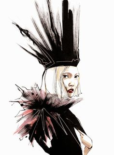Fashionary Hand - A Fashion Illustration Blog Mélique Street fashion illustrations Marina Meliksetova