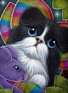 TUXEDO FAIRY CAT WITH RAINBOW WINGS