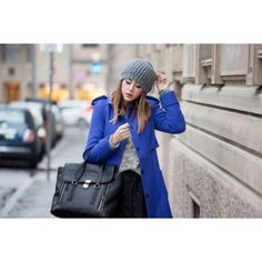Blue and Black Winter Outfit ❤ liked on Polyvore featuring people
