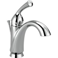 Delta Haywood Single Hole Single-Handle Bathroom Faucet with Metal Drain Assembly in Chrome (Grey)