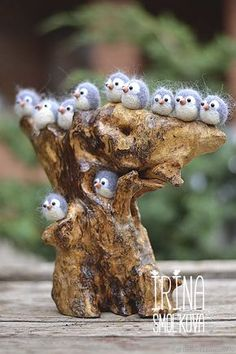 Buy and order owlets on Livemaster online shop. Shipped over Russia and the CIS. Production time:  . Materials: tree, 100% wool. Dimensions: 27 cm x 25 cm x 9 cm