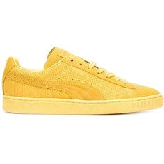 Puma 'Solange match' sneakers (490 RON) ❤ liked on Polyvore featuring shoes, sneakers, puma sneakers, puma footwear, yellow shoes, puma trainers and puma shoes
