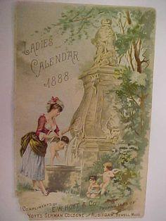 2/ Hoyt's German Cologne 1888 Ladies Calendar