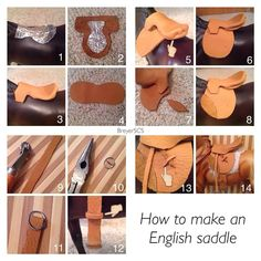 "986 Likes, 58 Comments - BreyerSCS Tack/Barn Tutorials (@breyerscs_tutorials) on Instagram: ""How to make an English saddle: . . 1. Cut out the tree using tin foil or a pop can. I used the tin…"""