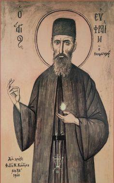 Ephraim of Nea Makri Byzantine Art, Orthodox Christianity, Holy Family, Orthodox Icons, Christian Art, First Love, Saints, Drawings, Quotes