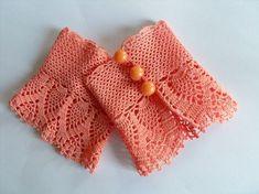 Crochet Gloves Victorian Gloves Deep Peach Lace by SmilingKnitting Crochet Gloves Pattern, Crochet Lace Edging, Crochet Mittens, Freeform Crochet, Crochet Scarves, Crochet Shawl, Crochet Clothes, Knit Crochet, Crochet Baby