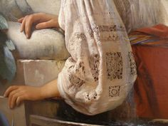 Portrait of a Young Lady (detail), by Carl Timoleon von Neff (1804-1877)