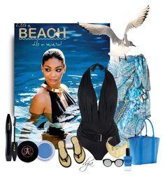 """Summer"" by dgia ❤ liked on Polyvore featuring Gottex, Lenny, Athleta, Pamela Love, H&M, Lancôme, Anastasia Beverly Hills, Lauren B. Beauty and Illesteva"