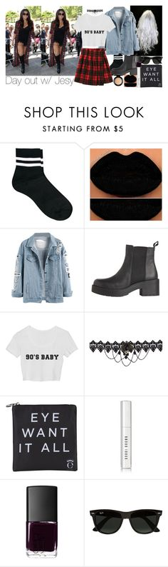 """""""Day out w/ Jesy."""" by emmafromrio ❤ liked on Polyvore featuring ASOS, Eyeko, Bobbi Brown Cosmetics, NARS Cosmetics, Ray-Ban and MAC Cosmetics"""