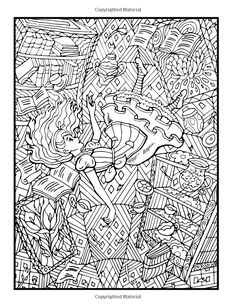 Amazon Alices Adventures In Wonderland An Adult Coloring Book With Fantasy Themes